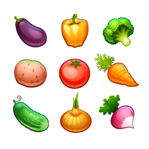 Рисунки и картинки овощей и фруктов