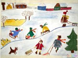 Зимние забавы дети фото 5