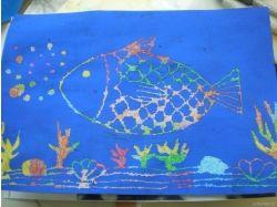 Граттаж подводный мир уроки 3