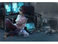 Картинки аниме  за компом 3