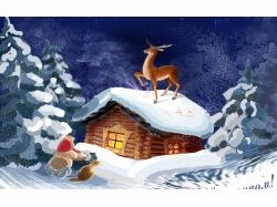 Детские картинки зима снег