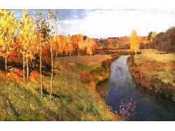 Золотая осень фото картины левитана