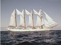 Скачать широкоформатные фото парусных кораблей