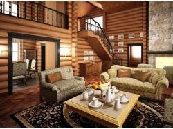 Деревянные дома интерьер фото
