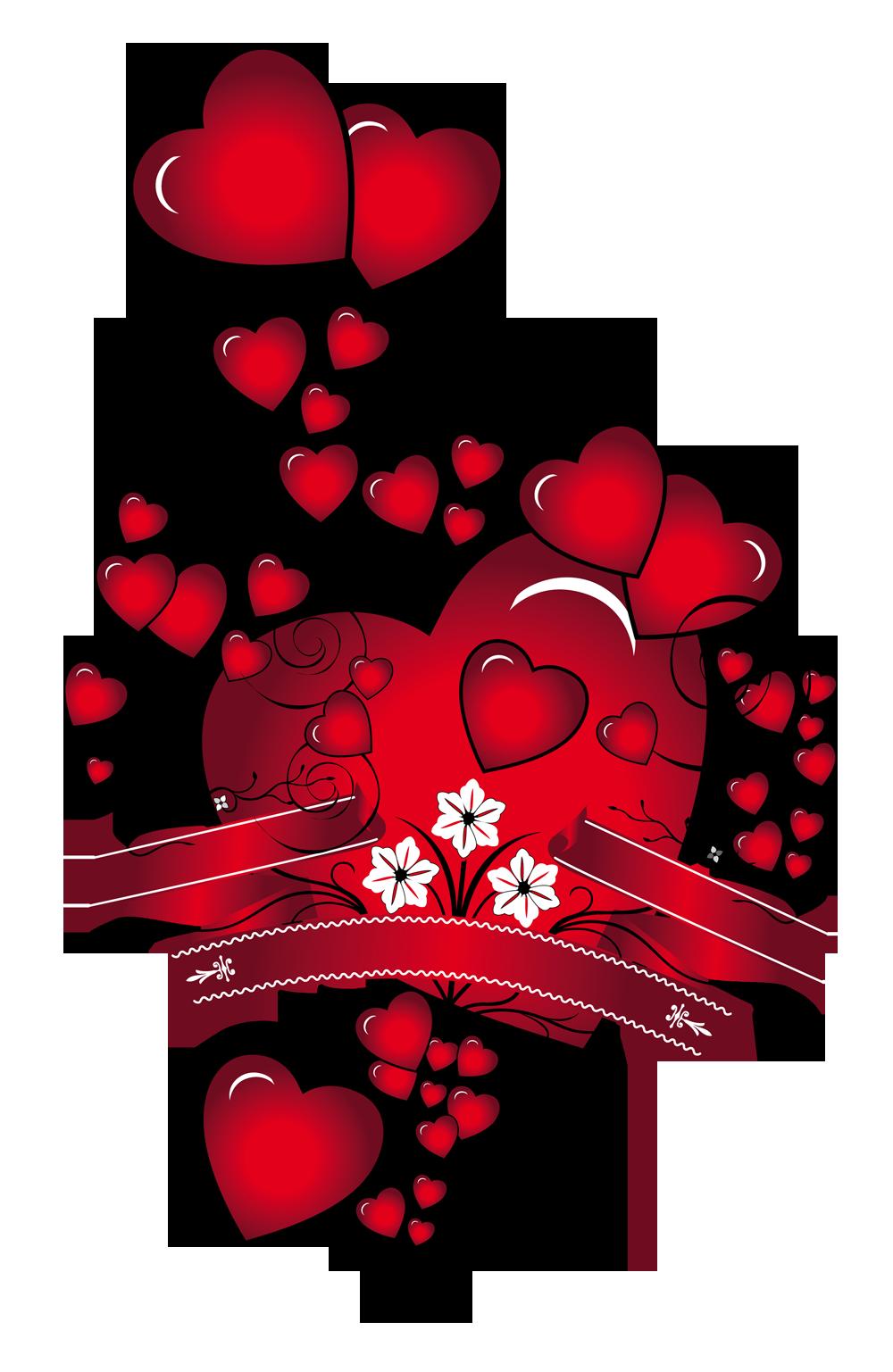 Сердца с открыток, поздравления