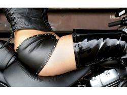 Девушки в коже и мотоциклы фото
