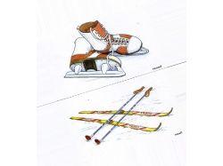 Картинки зима лыжи