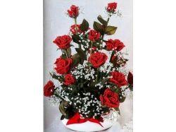 Картинки цветы из бисера букеты