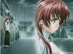 Грустные картинки аниме любовь