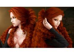 Рыжие девушки славянское фэнтези картинки