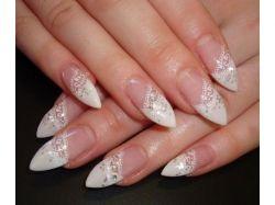 Разные картинки на ногтях френч