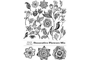 Цветы вектор