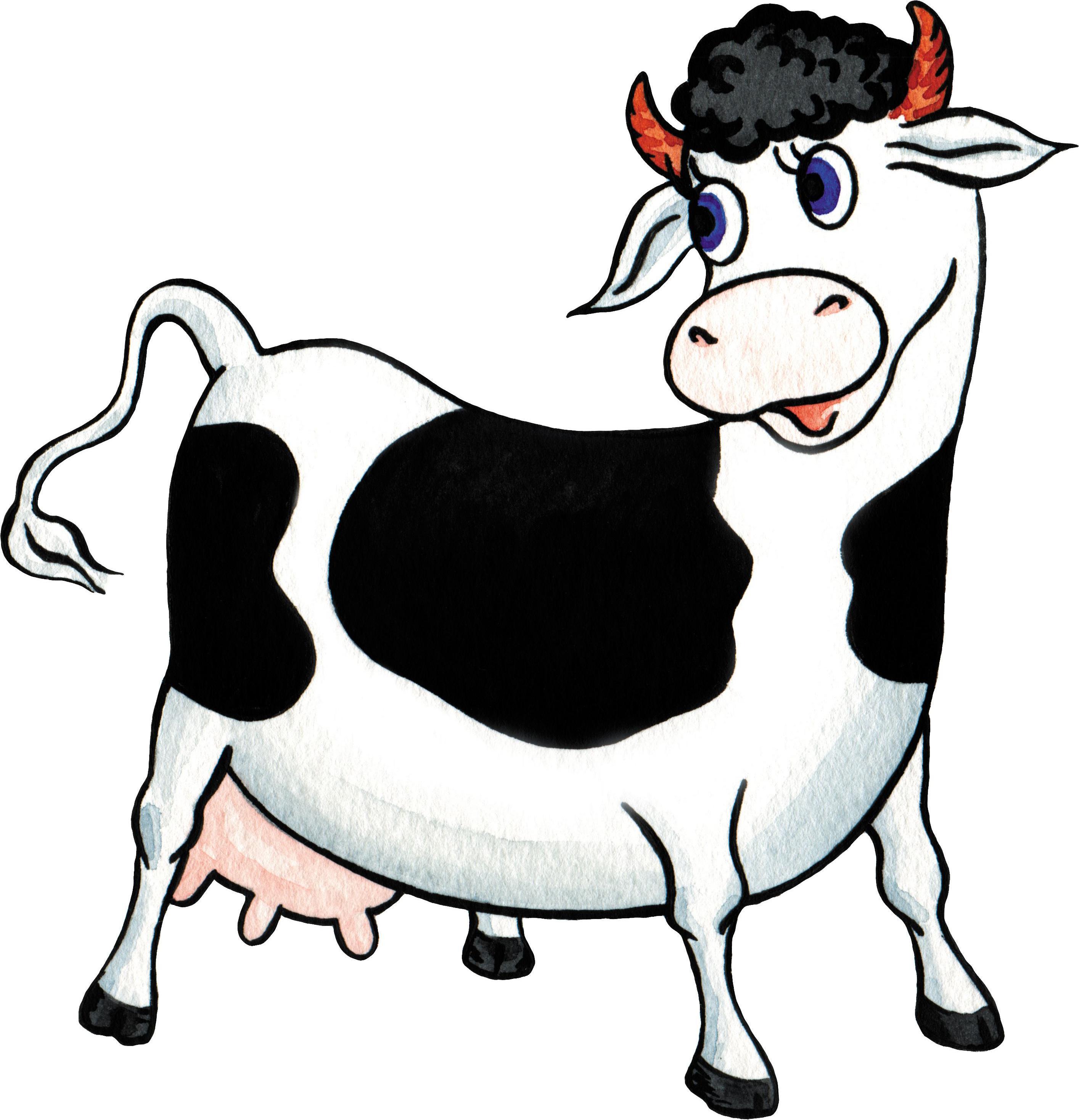 Картинки веселой коровы
