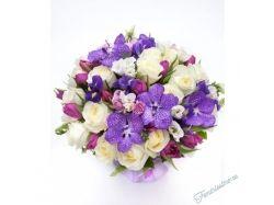Большие фото цветы с бусами